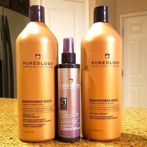 Pureology NanoWorks Gold Shampoo, Conditioner 1 lt